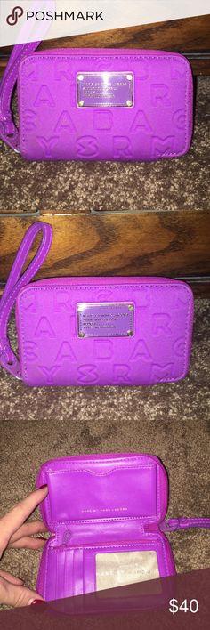 Marc Jacobs wallet Marc Jacobs purple wristlet/ wallet. Excellent condition. Super cute! Marc Jacobs Bags Wallets