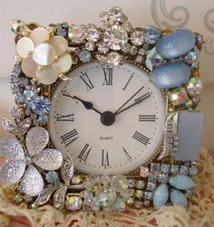 Vintage jewelry repurposed.