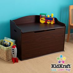 "KidKraft Austin Wooden Toy Box - KidKraft - Toys ""R"" Us"