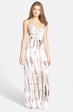 FELICITY & COCO Tie Dye Jersey Halter Maxi Dress (Regular & Petite) (Nordstrom Exclusive) available at #Nordstrom