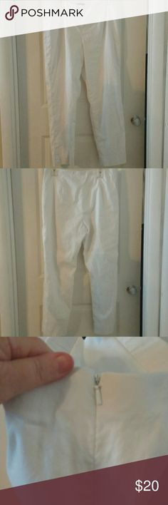 ZOZO Lined White Pants Lined white pants with zipper on left side ZOZO Pants Straight Leg