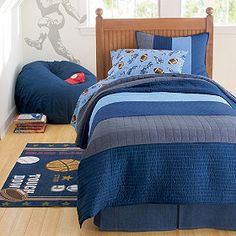 Wide-striped patchwork of tie-style stripes and geometrics make this handsome quilt and sham perfect for any teen (or grown-ups, too!).