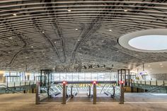 Probo foil at new train station in Delft, The Netherlands.