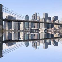 Lerretsbilde - Brooklyn Bridge Clear Blue Day