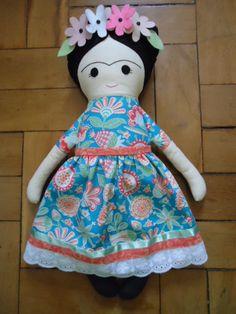Frida - Fabric Rag Doll