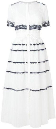 LK Bennett Tarley Cream Cotton Silk Dress