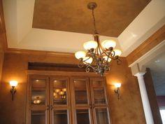 """Dining Room - Walls - Italian Venetian Plaster & Ceilings - Italian Venetian Plaster"" - Artisans - Bella Faux Finishes, Mark Nordgren, David Nordgren & Michael Nordgren, Sioux Falls, South Dakota www.bellafauxfinishes.com"