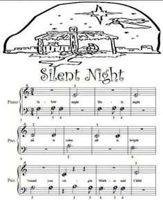 Piano Sheet Music for Beginners | Silent Night Beginner Tots Piano Sheet Music pDF
