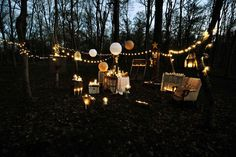 Magical outdoor or backyard twinkle lights and lanterns!