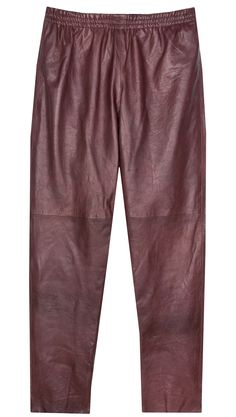 Forte Forte burgundy leather pants