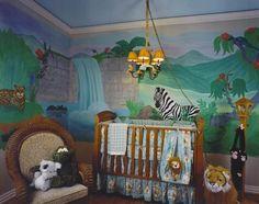 Cool Jungle Decor Kids Room Designs Trends 2012