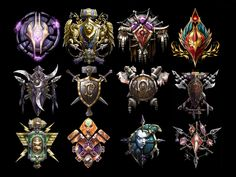 orc crest | top l r dranei alliance crest horde crest bloodelf night elf human orc ...