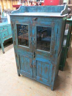 "Blue 4 Door Teak Cabinet - Dimensions: x x H"". Vintage Industrial Furniture, Primitive Furniture, Antique Furniture, Indian Doors, Cabinet Dimensions, Indian Furniture, Brighton And Hove, Selling Furniture, Cabinet Furniture"