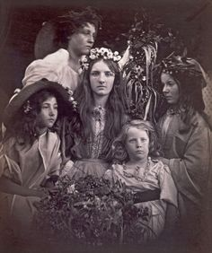 """Exhibition: 'Julia Margaret Cameron' at the Victoria and Albert Museum, London. """"I am always ecstatic when I see her work, no more so than when I view images that I have not seen before."""" http://artblart.com/2016/01/21/exhibition-julia-margaret-cameron-at-the-victoria-and-albert-museum-london/ Photo: Julia Margaret Cameron. 'May Day' 1866"""