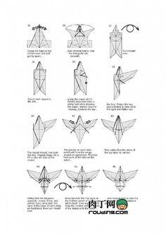 tuto origami aigle