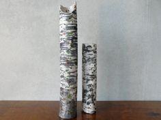 Bodenvase 'Großer Birkenstamm' Raku-Keramik von bothendsburning