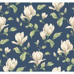 York Wallcoverings Magnolia Branch Wallpaper-AK7422 - The Home Depot