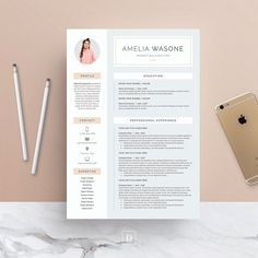 Word Resume  Cover Letter Template Creativework  Resume