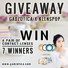 #WIN 7 PAIRS OF #LENSES FOR 7 WINNERS! Join to this #Giveaway by @Gadzotica Join Here ➻ http://bit.ly/GadzoticaGiveaway