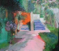Acrilico/madera estucada Painting, Art, Gardens, Wood, Art Background, Painting Art, Kunst, Paintings, Performing Arts