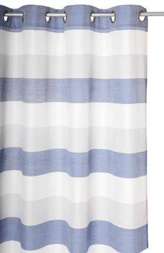 Ösenvorhang Ösenschal Fertiggardine 135x245cm LEVANA blau grau