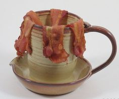 Microwave Bacon and Egg cooker pottery set by MapleLeafPotteryca, $55.00