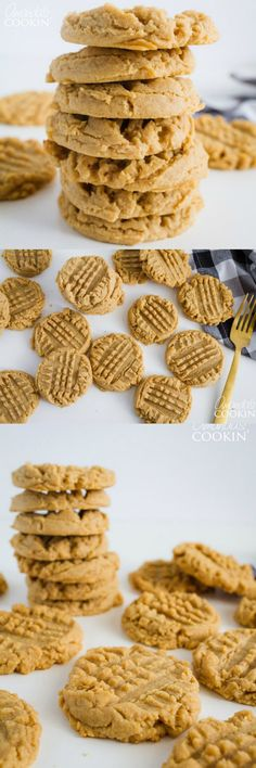 Who doesn& love a fresh batch of homemade soft and chewy peanut butter cook. Who doesn& love a fresh batch of homemade soft and chewy peanut butter cookies? Well if you& someone who does, we& got the perfect recipe for you! Homemade Peanut Butter Cookies, Butter Cookies Recipe, Peanut Butter Recipes, Köstliche Desserts, Delicious Desserts, Dessert Recipes, Yummy Food, Yummy Yummy, Delish