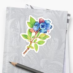 Thank you Buyer! #PatriciaSheaDesigns A wittily oversized, botanically correct, watercolour illustration of wild Maine blueberries by artist Patricia Shea. • Also buy this artwork on stickers, apparel, phone cases, and more.