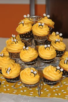 Bumblebee cupcakes I made for my best friend's shower!