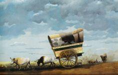 Florencio Molina Campos - La carreta encuerada