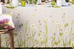 PROFLAX Tischläufer 50x150 AMELAND Wiesenblumen Sand/Grün…