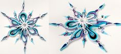 Amazing Cool 3D snowflake by Yulia  Brodskaya at artyulia.com. Using quilling technique