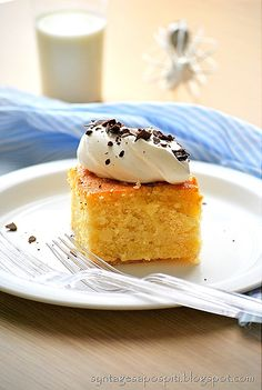 Giaourtopita: Greek traditional cake with syrup. Cannot be compared!
