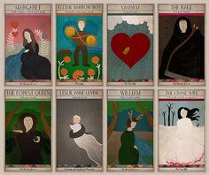 Tarot Cards Inspired by Decemberists Lyrics