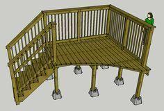 24 Round Pool Deck Plans Pool Decks Pool Ideas