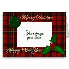 Adorable Christmas tartan greeting card by PLdesign $2.95