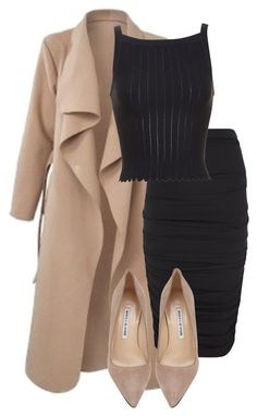 POLYVORE/How to wear a camel coat