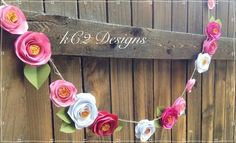 Paper Flower Garland. Kate Spade Inspired.  Blush garland Wedding Garland. YOUR COLORS.   pink flowers. Baby shower. Nursery decor. Wedding decor.
