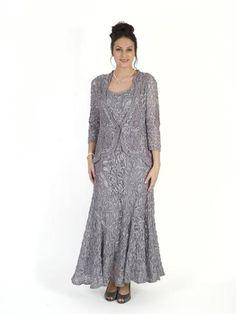 PRE ORDER - Silver Grey Emb Lace Dress
