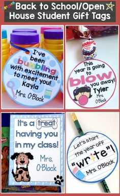Easily create memorable back to school, Meet the Teacher, or Open House gifts for your students. Simply edit, print, and attach to inexpensive trinkets such as bubbles, Blow Pops, Starburst, cookies, pencils, crayons, etc.   Includes 15 different designs so you can use them for multiple classes, Open House Night, Meet the Teacher Night, the first day of school, or from year to year.