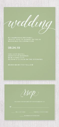 Printable Wedding Invitation Watercolor Olive by CarraraType