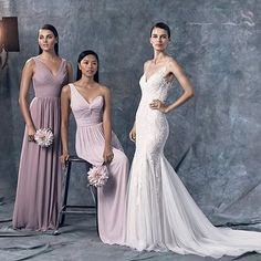 Now this is how you outfit your dream day in @watterswtoo! From the fabulous Watters gown with tulle godets to the purple hues of their bridesmaids dresses, we are completely smitten. #Watters #WToo #bridesmaids #bridalgown #weddingdress #bridaldress #mai
