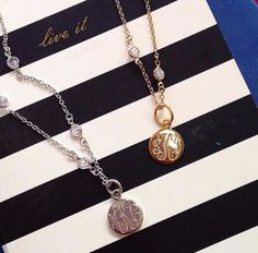 Timeless Sparkle & Shine + #Monograms = Blair Monogrammed Necklace from SwellCaroline.com! #LuxeJewels #BestSeller