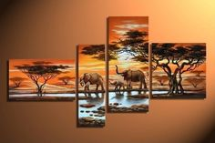 Animal Life , Price: $389.00, Shipping: Free Shipping, Size of Parts: 35cm x 60cm x 1 panel + 20cm x 70cm x 1 panel + 35cm x 80cm x 1 panel + 40cm x 40cm x 1 panel, Total Size (W x H): 120cm x 80cm, Delivery: 14 - 21 Days, Framing: Framed & Ready to Hang! We are Australia's oldest and most trusted supplier of professionally painted oil artwork on canvas. http://www.directartaustralia.com.au/