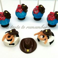 Cowboy cake pops and matching oreos
