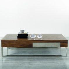 Modern Coffee Table 107A in Walnut