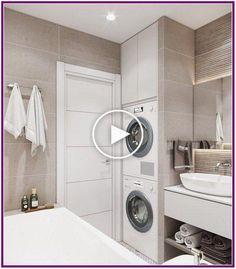 25 most popular basement bathroom remodel for small space 00020 - Bathroom Ideas Laundry Room Bathroom, Laundry Room Design, Basement Bathroom, White Bathroom, Small Bathroom, Master Bathrooms, Bathroom Ideas, Bathroom Organization, Bathroom Storage