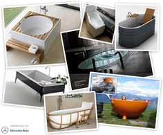 luxury bathtubs... a step up from mine, in which i would never dare to bathe yo
