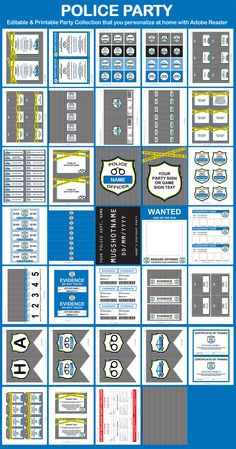 Police Party Printable Templates