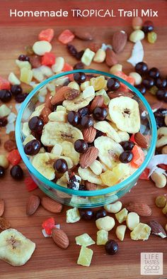 Homemade Tropical Trail Mix | by Life Tastes Good loaded with dried ...